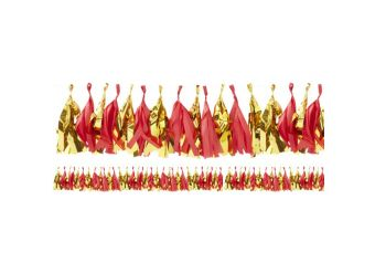 Red & Gold - Red & Gold Tassel Garland