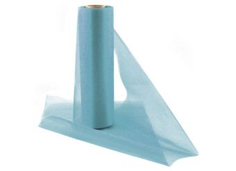 Blue Organza Sheer Roll - 25m