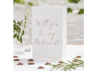 Beautiful Botanics Rose Gold 'Will You Be My Bridesmaid?' Cards