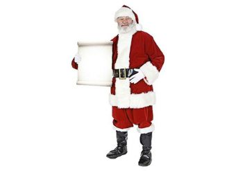 Santa with Small Message Sign Cardboard Cutout - 1.8m