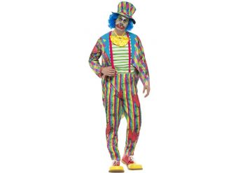 Deluxe Patchwork Clown - Adult Costume
