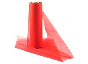 Red Organza Sheer Roll - 25m