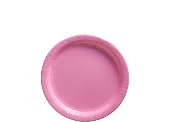 Baby Pink Plates - 18cm Paper Plates
