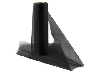 Black Organza Sheer Roll - 25m