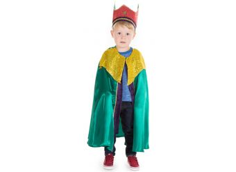 Green Nativity King - Child Costume
