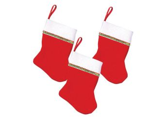 Mini Felt Stocking Value Pack - 10cm