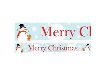 Snowman & The Dog Paper Yard Banners 1 design 1m each