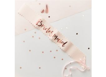 'Bridesmaid' Rose Gold Foiled Paper Sashes