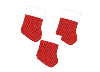 Mini Stocking Value Pack with Sequins - 11cm