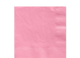 Baby Pink Luncheon Napkins - 33cm Square 2ply Paper