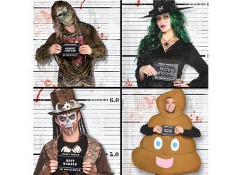 Halloween Line-up Backdrop and Photo Booth Props