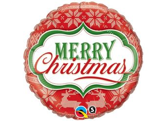 """Merry Christmas Nordic Pattern - 18"""" Foil"""