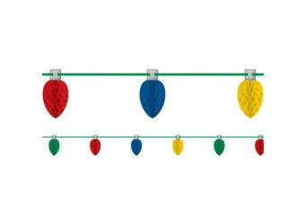 Multi Coloured Honeycomb Lightbulb Garland - 3m