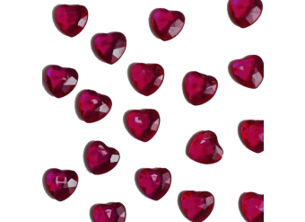 Ruby Red Heart Table Diamantes