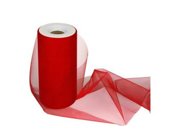 Red Tulle Roll - 15cm x 25m