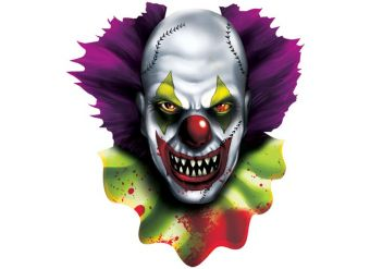 Scary Clown Halloween Cutout - 38cm