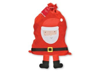 Large Santa with Hanging Legs Christmas Sack - 92.5cm x 50cm