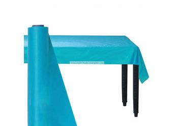 Turquoise Plastic Banqueting Roll - 30m