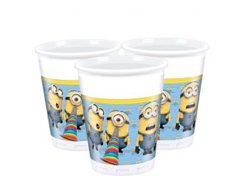 Despicable Me Cups - 200ml Plastic Party Cups
