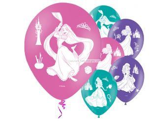 Disney Princess 4 Sides Balloons - 11'' Latex