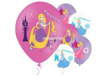 Disney Princess 4 Colour Balloons - 11'' Latex