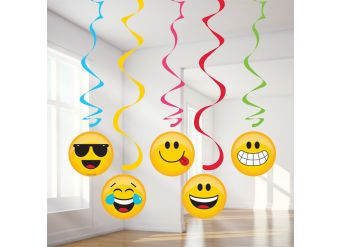 Emoji Assorted Hanging Swirls