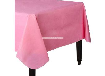 Baby Pink Flannel-Backed Vinyl Tablecover - 1.3m x 2.2m