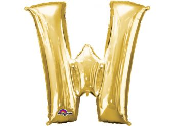 "Gold Letter W Balloon - 34"" Foil"