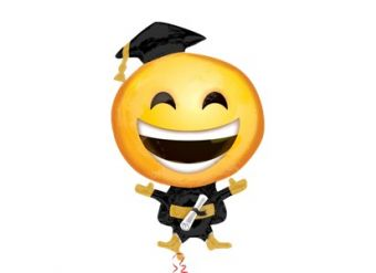 "Graduation Emoji Foil Balloon - 24"" Supershape"