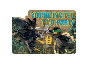 Lego Ninjago Invitations