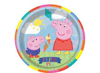 Peppa Pig Plates - 23cm Paper Party Plates