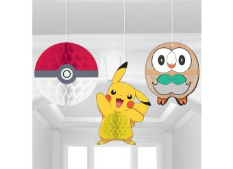Pokémon HoneyComb Hanging Decorations
