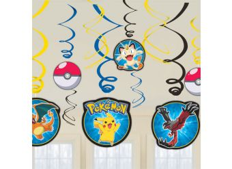 Pokémon Hanging Swirls Decorations - 61cm