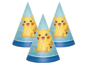 Pokémon Party Hats - Paper Cone Hats
