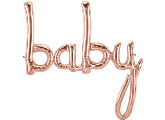 "Rose Gold Baby Phrase Balloon - 34"" Foil"