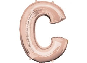 Rose Gold Letter C Balloon - 34 Foil