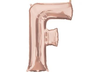 Rose Gold Letter F Balloon - 34 Foil