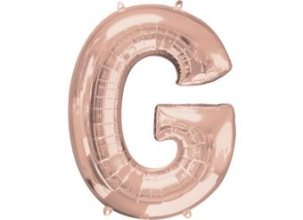 Rose Gold Letter G Balloon - 34 Foil