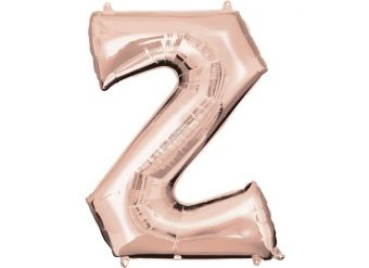 Rose Gold Letter Z Balloon - 34 Foil