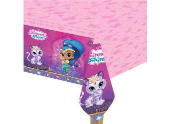 Shimmer & Shine Plastic Tablecover - 1.2m x 1.8m
