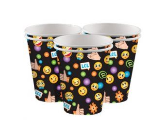 Smiley Cups - 255ml Paper Party Cups